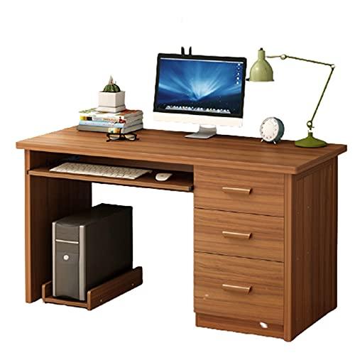 AEF Moderna Minimalista Mesa Ordenador, Mesa Escritorio con 3 Cajones Y De Gran Capacidad para Casa Oficina, 100/120 * 50 * 71 CM,C,100 * 50 * 71cm