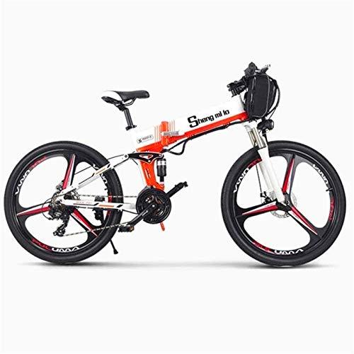Bicicletas Eléctricas, Bicicletas eléctricas rápidas for adultos de 26 pulgadas 350W plegable nieve de la montaña E-bici con superligero de aleación de aluminio de 6 radios de la rueda integra