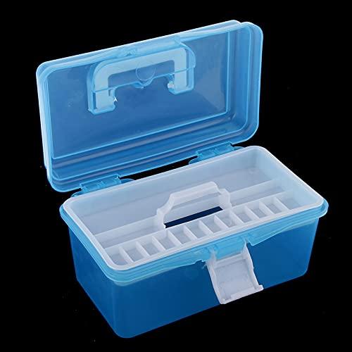 Organizador de caja de herramientas Caja de almacenamiento de artesanía de la caja de arte de la caja de la caja de la herramienta de plástico pequeño con la caja de herramientas del organizador portá