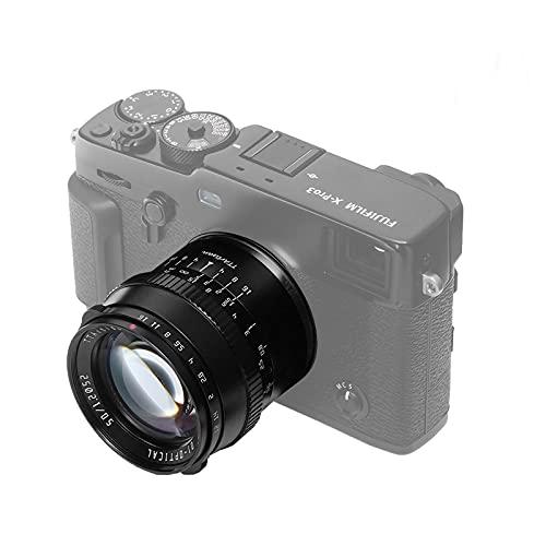 TTArtisan 50mm f1.2 Sony e Mount Lens APS-C Camera Lens for Sony a6400、a6000、a6100、a6600、a5100、a6500、a6300