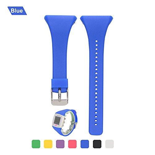 Bemodst Ersatz-Armband für Polar FT4 FT7, Silikon Armband Uhrenarmbänder Uhrenarmband Handschlaufe Uhr Gurt für Polar FT4 FT7, blau