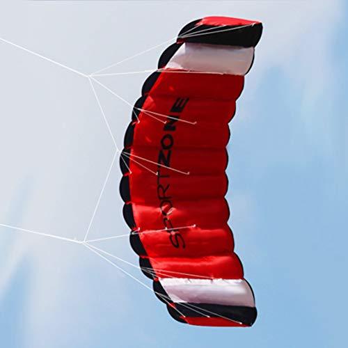 itchoate Kitesurf de linha dupla paraquedas de 1,8 m Soft Parafoil Sail Surf Kite Kite esporte enorme atividade ao ar livre Kite voador de praia - preto