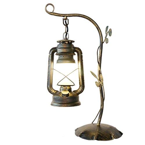 Bedlampje Europese retro stijl petroleumlamp lantaarns smeedijzeren tafellamp, glazen lampenkap, woonkamer slaapkamer hol lezen kantoor cafe bar club restaurant E27 tafellamp schrijftti