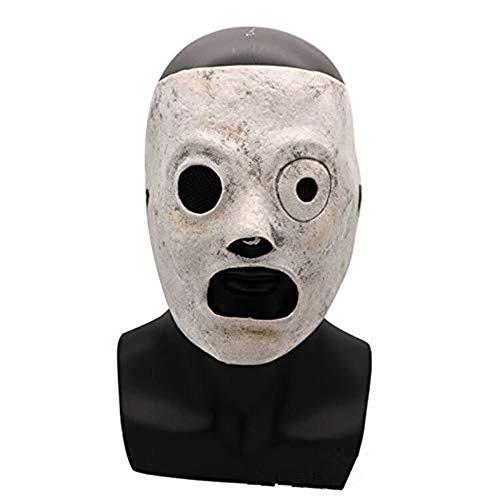 Corey Taylor Masque en latex pour cosplay, Halloween, fête costumée Blanc