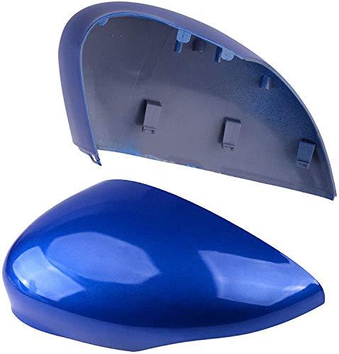 ala Cubierta del Espejo Retrovisor Cubierta del Espejo Cap, Tapas De Espejo Retrovisor Lateral ABS Azul Brillante, para Ford Fiesta MK7 2008-2017
