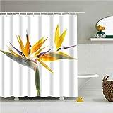 ZLWSSA 3D Wasserdicht Duschvorhang Feuchtigkeitsfest Bad Sonne Blumen Mit Haken Im Bad Wohnkultur Polyester A 180x200cm