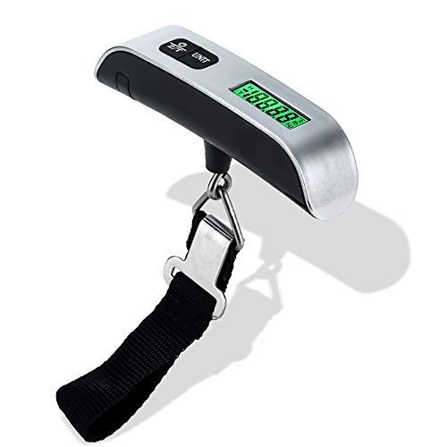 Intirilife Bilance digitali per Bagagli in Nero - Bilance pesa valigie Elettronica Portatile per la pesatura di valigie, Bagagli a Mano, Borsa da Viaggio - Precisa per Vacanze, aeroporto