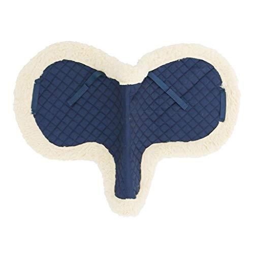 Toon Prestatie Paardensport Levert Springen 65x60cm, Ruiter Paard Zadeldek Soft Bareback Fluff Stof Seat Deken (Color : Blue)