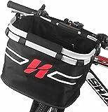 Fahrradkorb Vorne Abnehmbar Fahrrad Lenkerkorb multifunktionale Fahrradkörbe 2 in 1 Einkaufstasche, Fahrradkorb Hund mit Lenkeradapter Easy Install 36 * 26 * 34(cm)