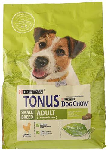 Purina Tonus Dog Chow Adult Small Breed Chien Croquettes avec Poulet, 4 Sacs de 2,5 kg