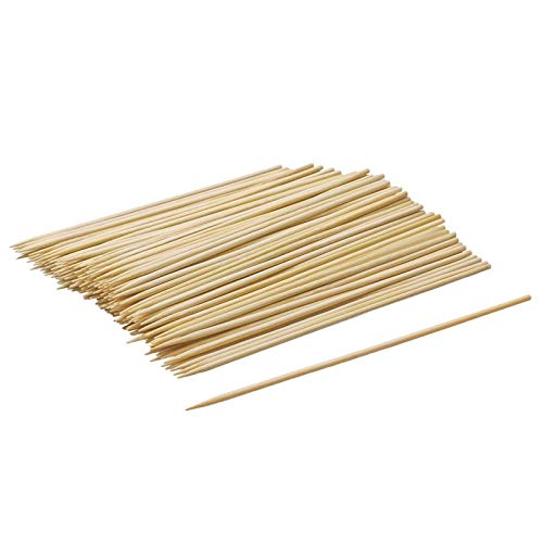 Andyrex Bamboo Skewers,Natural Bamboo Skewers for BBQ,Corn Dog Sticks,Skewer Sticks,Wooden Kebab Skewers -Skewers for Fruit Kabobs,Appetizer, Chocolate Fountain, Cocktail More Food (6 inch(100 Pack))