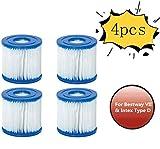 XIAOL Cartucho de filtro para Bestway tipo VII & Intex D.Whirlpool o spa, accesorios, cartuchos de filtro, fácil de usar, filtro de piscina hinchable