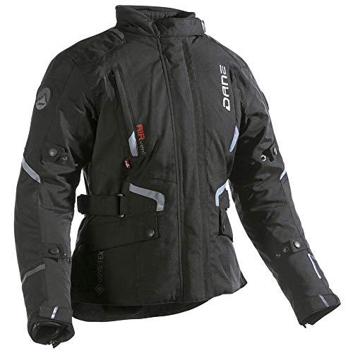Dane RAGNAR LADY GORE-TEX Motorradjacke Damen Farbe schwarz/grau, Größe 42