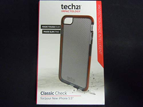 Tech21 Classic Check For Iphone 6 Plus Case Cover Impactology Slim Smokey