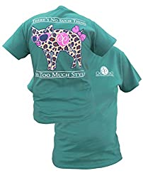 Southern Couture Womens Classic Leopard Pig Short-Sleeve Tee Shirt