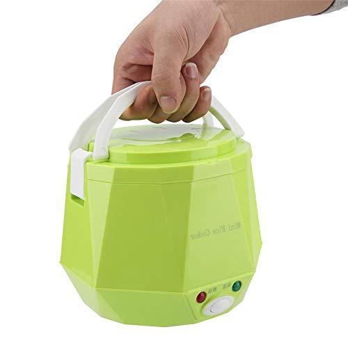 LQKYWNA Tragbarer 12V / 24V Auto | LKW Elektro Hot Pot mit Car Line Nonstick Inner Pot Mini Travel Kocher für 1-2 Personen Kochen Suppe Reis Eintöpfe Haferflocken - Auto nur (Car-Green)