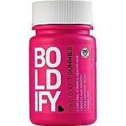 BOLDIFY Biotin Gummies for Hair Growth (5000 mcg) Sugar Free & Vegan, All Natural, Hair Vitamins for Skin & Nails (Strawberry) Fast Acting, Lifetime Guarantee 1 Month Supply