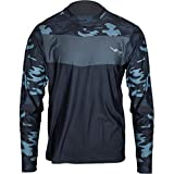 WindRider Long Sleeve Fishing Shirts for Men UPF 50+ Sun Protection with Mesh Sides Stain Resistant and Moisture Wicking Grey Camo