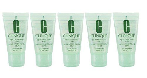Clinique Liquid Facial Soap Mild Dry Combination - 150ml (5 X 30mls) New