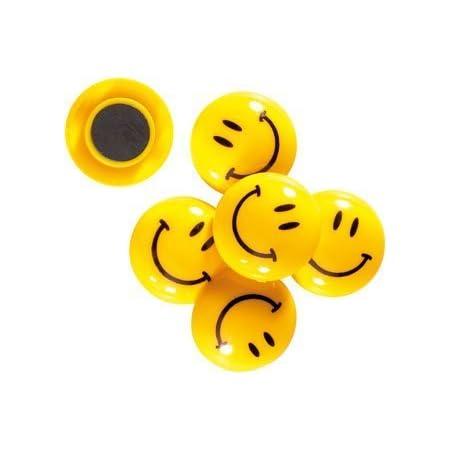 eS³kube Smiley Plastic Magnet Buttons, 3 cm - Multicolor, Set of 12 pcs