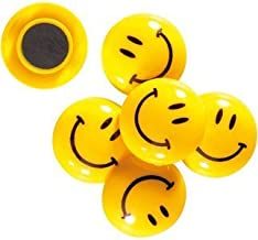 eS³kube Magnet Buttons-Smiley2 Magnet Buttons with Smiley Face for Magnetic White-Boards and More(Set of 12)