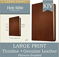 Holy Bible: King James Version, Brown, Genuine Leather, Filament Enabled: Thinline Reference
