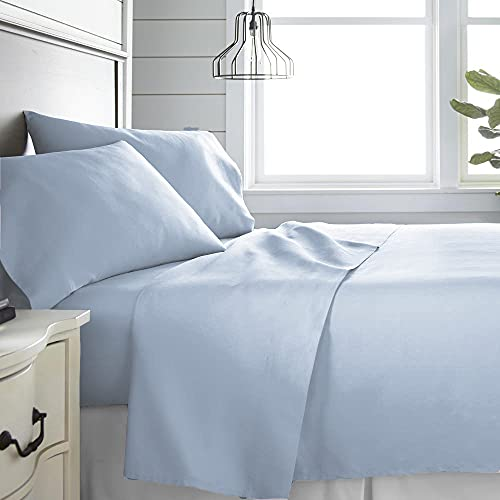 Monkey House | Set completo letto tinta unita, Made in Italy, 100% cotone – singolo, matrimoniale, una piazza e mezza (Grigio, Matrimoniale)