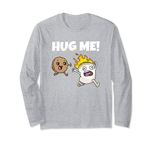 Hug me Marshmallow Keks Lagerfeuer grillen Camping Camper Langarmshirt