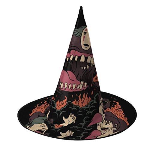 Sombrero de Halloween El Viaje de Chihiro Sin Rostro Kaonashi Kaiju Sombrero de Bruja Disfraz Unisex de Halloween para Vacaciones Fiesta de carnavales de Navidad de Halloween
