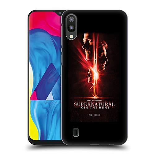 Offizielle Supernatural Sam, Dean & Castiel Schluessel Kunst Harte Rueckseiten Huelle kompatibel mit Samsung Galaxy M10 (2019)