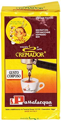 CAFFÈ PASSALACQUA CREMADOR - GUSTO CORPOSO - PACCHETTO 250g MACINATO PER MACCHINE ESPRESSO BAR