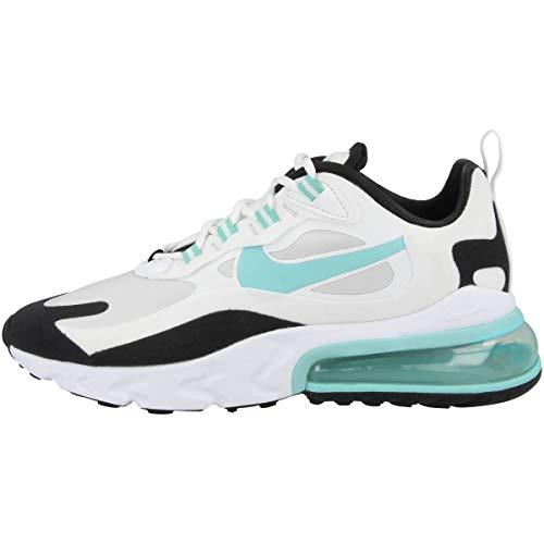 Nike Chaussures de course W Air Max 270 React pour femme - Blanc - Photon Dust White Black Aurora Green Cj0619 001, 38.5 EU