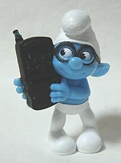 2011 US McDonald's Happy Meal toy movie ' Smurfs (THE SMURFS) ' ' brainy ' figure