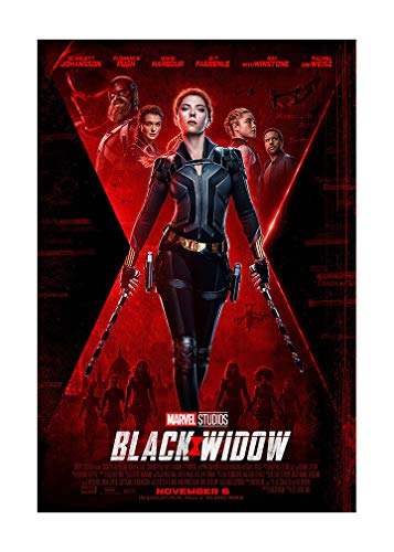 """Black Widow Movie Poster - Advance One Sheet (Style D) 24""""x36"""" This is a Certified PosterOffice Print with Holographic Sequential Numbering for Authenticity."""