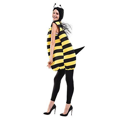 EraSpooky Biene Kostüm Halloween Bienchen Bienenkostüm für Erwachsene Unisex