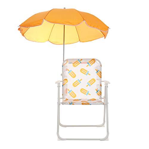 Sedia arancione con ombrellino parasole per bambini Arancione