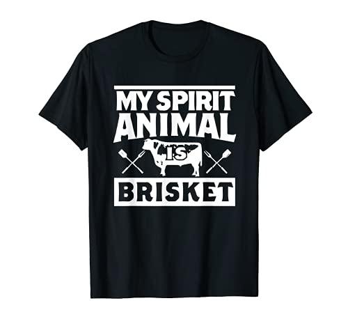 My Spirit Animal is Brisket Smoking Meat Barbecue T Shirt T-Shirt