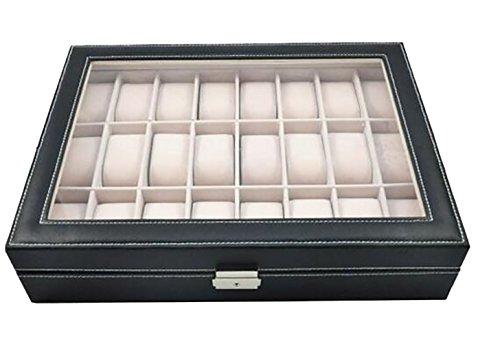 DoubleBlack Uhrenbox für 24 Uhren