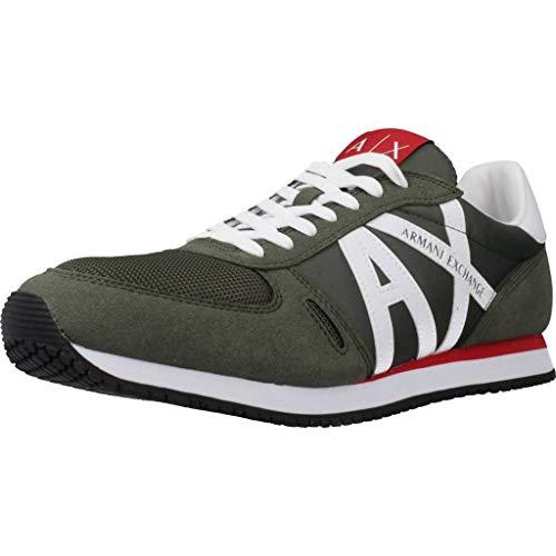Armani Exchange Herren Sportschuhe XUX017 XV028 Grün 44 EU