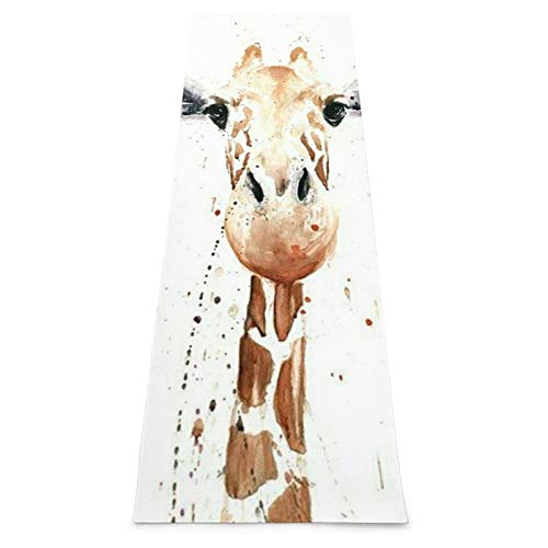 Clever Giraffe - Esterilla de yoga antideslizante para yoga, pilates, gimnasio en casa y entrenamiento