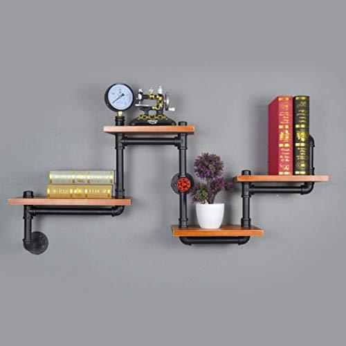 Lfixhssf Lfixhssf Retro-wandrek industriële waterbuis woonkamer muur plank hangende massief houten boekenplank wandplank Lfixhssf