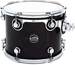 DW Performance Series Mounted Tom - 10 Inches X 13 Inches Ebony Stain Lacquer
