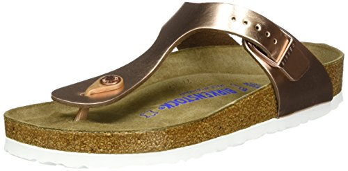 BIRKENSTOCK Damen Gizeh 1005048 Zehentrenner, Pink (Metallic Copper Metallic Copper), 38 EU