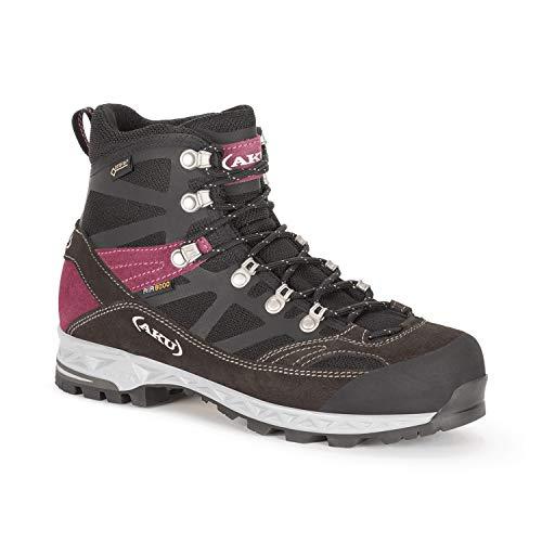 AKU Trekker PRO GTX WS - Wanderschuh - Trekkingschuh - Outdoorschuh - für Damen - Farbe: schwarz-violett (36 EU)