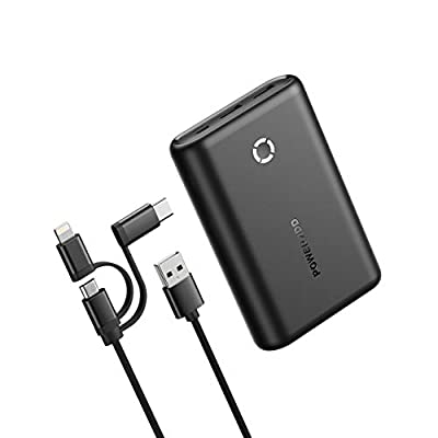 Poweradd 15000mAh Portable Charger High-Speed Charging Power Bank Dual Ports External Battery Compatible for iPhone11/11 Pro/X/XS/XR, iPad, iPod, Samsung, Huawei, Nintendo Switch and Tablets-Black