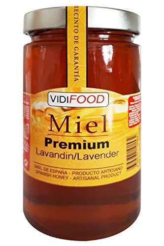 Miel de Lavanda Premium - 1kg - Producida en España - Tradicional & 100{ac45ccbf68f6ee5afc30156273b4fffdfb1ec81a04ae51f98207ac32b6171d27} pura - Aroma Floral y Sabor Dulce