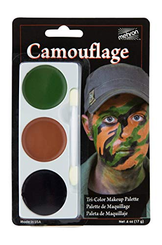 Mehron Makeup Tri-Color Halloween Makeup Palette (Camouflage)