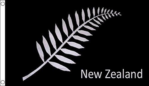 Flagtex Unisex's Nieuw-Zeelandse Varen vlag, meerkleurig, groot