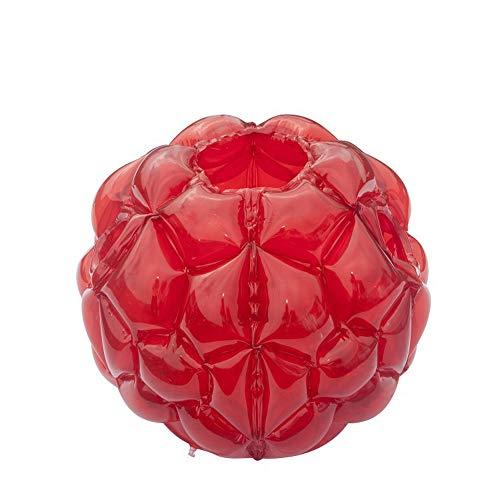 GJXY 1pcs Wearable Körper Blasen Bälle, aufblasbare Luftblasen-Kugel, Durable PVC aufblasbare Stoßstange Ball Bounce Sumo-Anzüge Spielzeug für Kinder im Freien Spielen Ballspiele,Rot,60x60cm