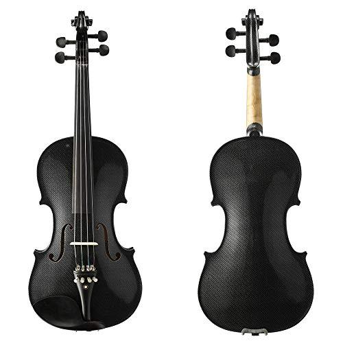 LOIKHGV 4/4 Full Size Schwarz Weiß Schädel Massivholz Student Violin Kit mit Ebenholzbeschlägen Mehrfarbig Schädel lackiert, HB1311, China